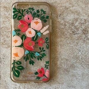 Rifle Paper Co clear peach blossom iPhone 6s case